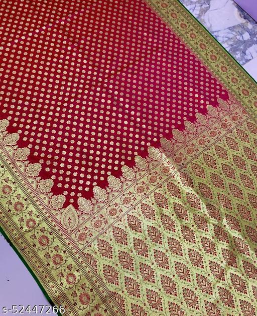 (R20Pink) Fabulous TrenDy Banarsi Silk Saree for Specially Weddings