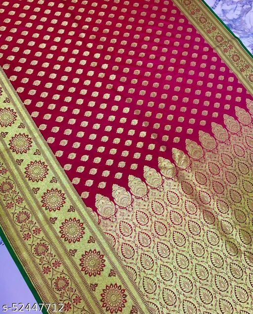 (R23Pink) Fashionable TrenDy Banarsi Silk Saree