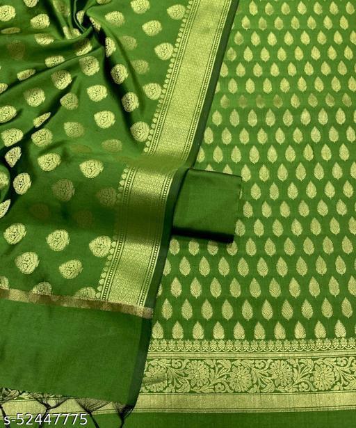 (R3Mint Green) TrenDy Fabulous Banarsi Silk Suit And Dress Material