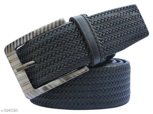 Stylish Men's Black Leather Belt