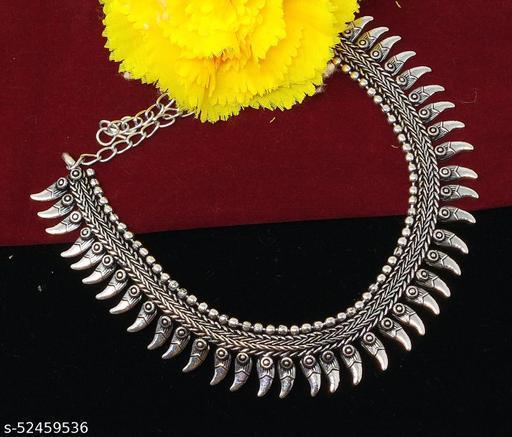 German Silver Stylist Necklace For Women/Girl