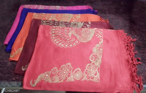 IGNOTO (Set of 5) Designer Cotton Casual Dupatta for Women's & Girls    Color/Pattern: Assorted