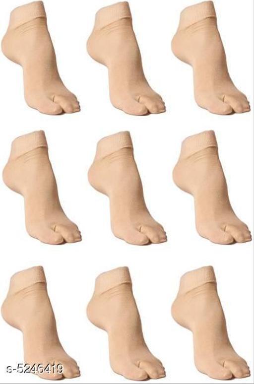 Trendy Cotton Women's Socks (Pack Of 9)