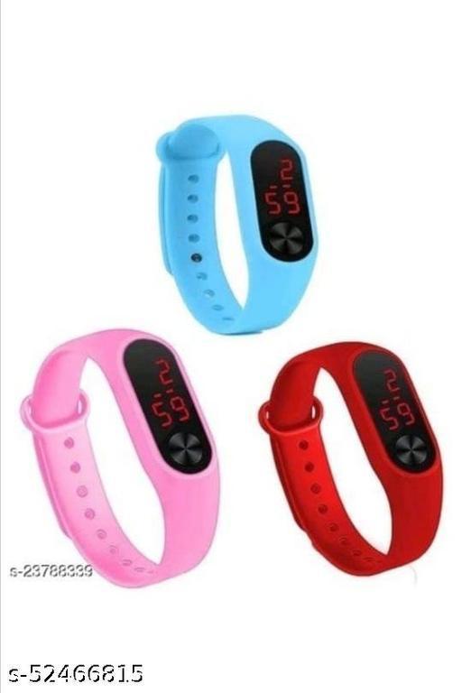 Digital Watch - For Boys & Girls , Blue ,Pink ,Red Watch