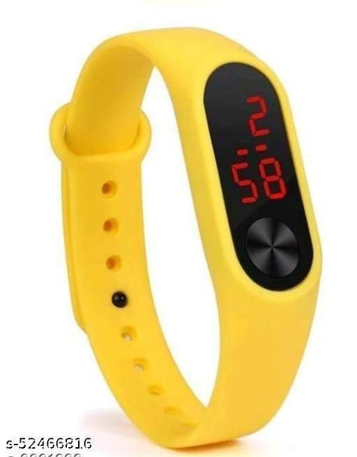 Digital Watch - For Boys & Girls , Yellow Watch