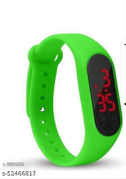 Digital Watch - For Boys & Girls , Green Watch