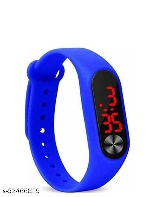 Digital Watch - For Boys & Girls , Blue Band  Watch