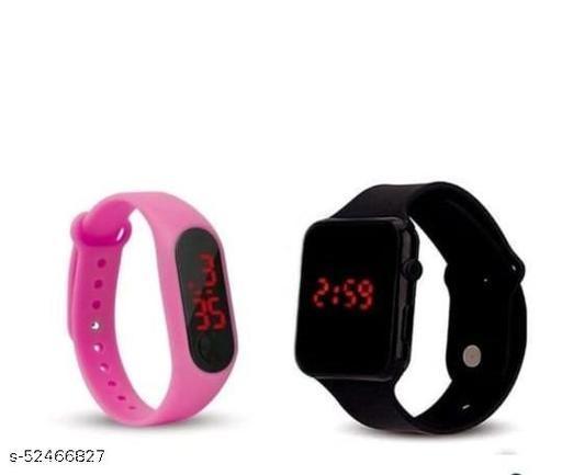 Digital Watch - For  Girls , Blue & Pink Watch
