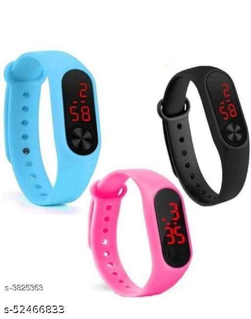 Digital Watch - For Boys & Girls , Black ,Sky Blue, Pink   Watch