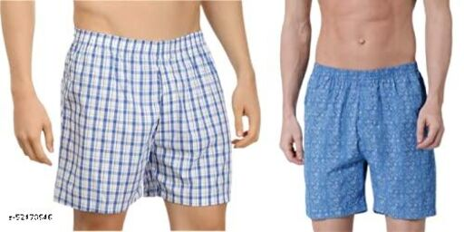 BENAVJI Men Cotton Checks Shorts_(Multicolor-3)_PK02