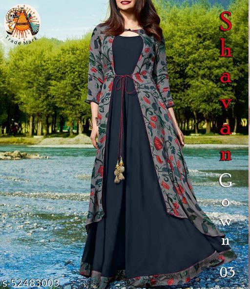 Aadhya Fenshi Digital Printeded Gown
