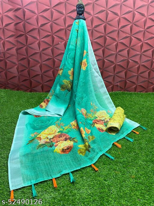 krishna printed saree
