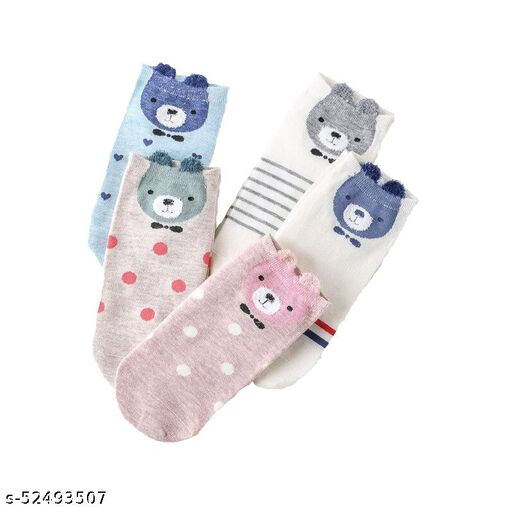 Missby Cute 3D Printed Cotton Anke Socks for Animal Lovers (Panda Edition)