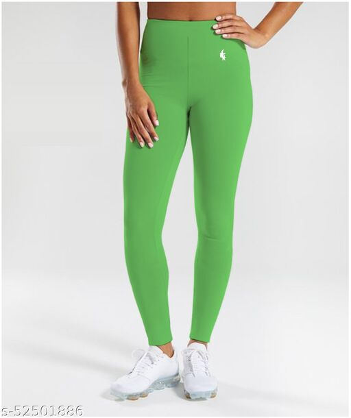 HORSE&RIDE WOMENS ANKLE LEGGINGS(LIME GREEN,Pack of 1)