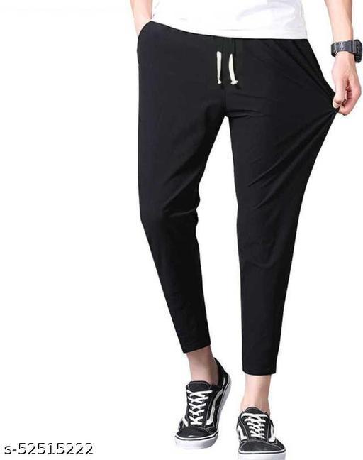 SB07 Fancy Glamarous Men Trousers Black