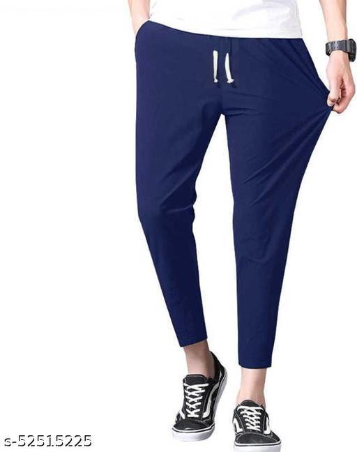 SB07 Fancy Glamarous Men Trousers Navy blue