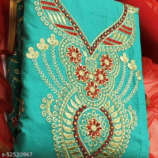 KRISHNA CREATION Women's Cotton Un-Stitched Dress Material