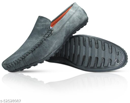 MISSAS Men's black colour casual denim loafer shoes