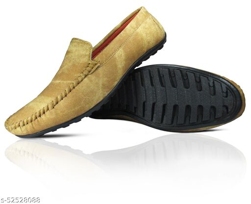 MISSAS Men's beige color casual denim loafer shoes
