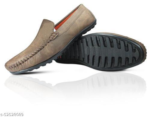MISSAS Men's brown color casual denim loafer shoes