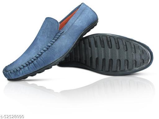MISSAS Men's blue color casual denim loafer shoes