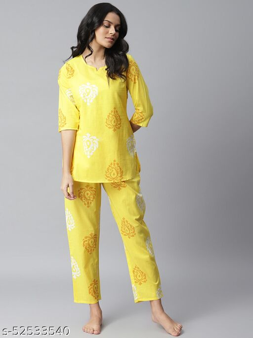 Stylum Women's Printed Cotton Night Suit Set