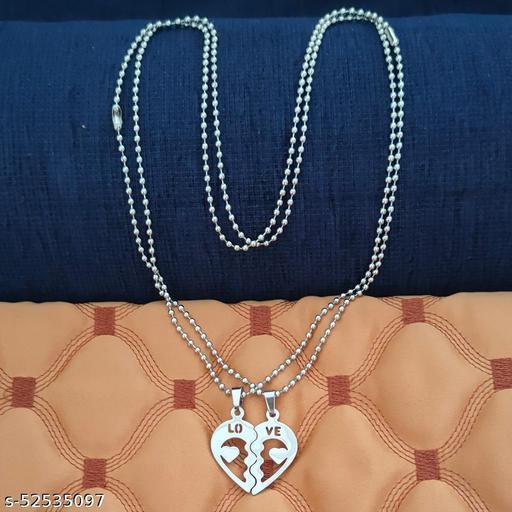 Shiv Jagdamba Broken 2 Hearts Alphabet Love Couple Pendant