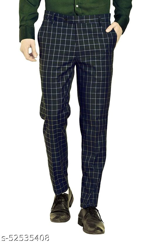 TRULYFEB STYLISH COTTON BLEND TROUSER FOR MENS