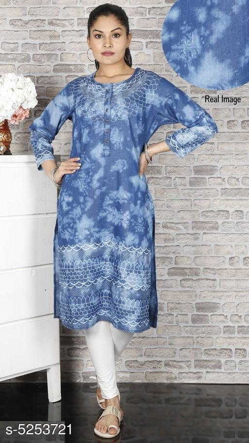 Women's Dyed/ Washed Denim Kurti