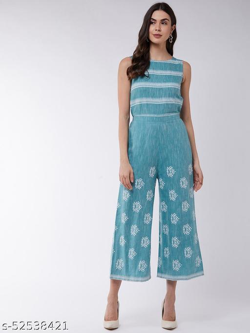 Pannkh Women's Cotton Printed Jumpsuit