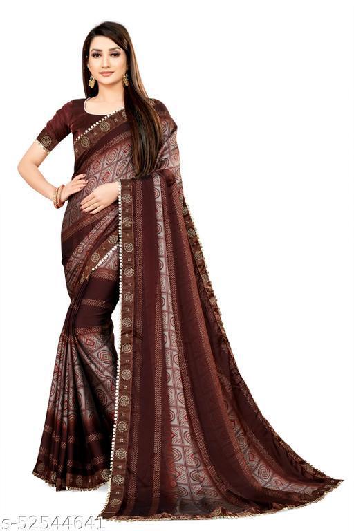 Fashionseye Women's Rangoli Silk  Saree With Satin Banglory Silk Blouse Piece