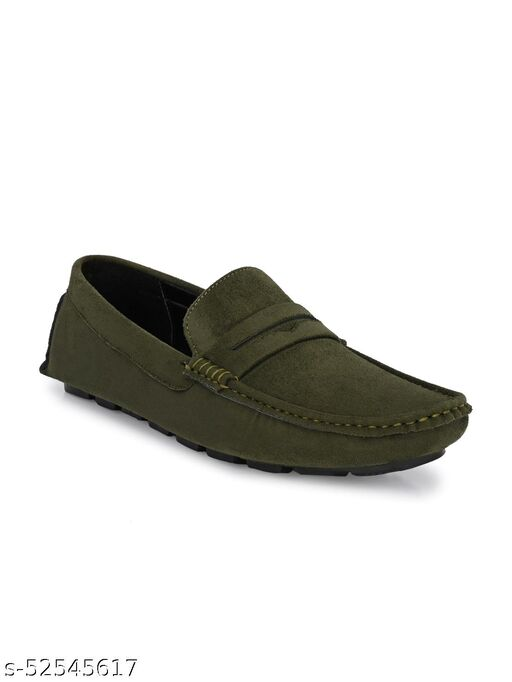 Guava men's Driving Loafers Shoes - Olive