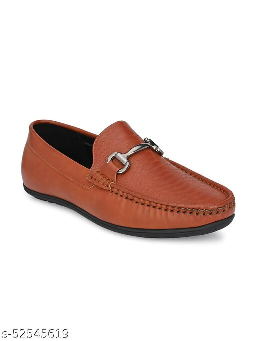 Guava Texture Embossed Slip-on Driving Loafer Shoes - Tan