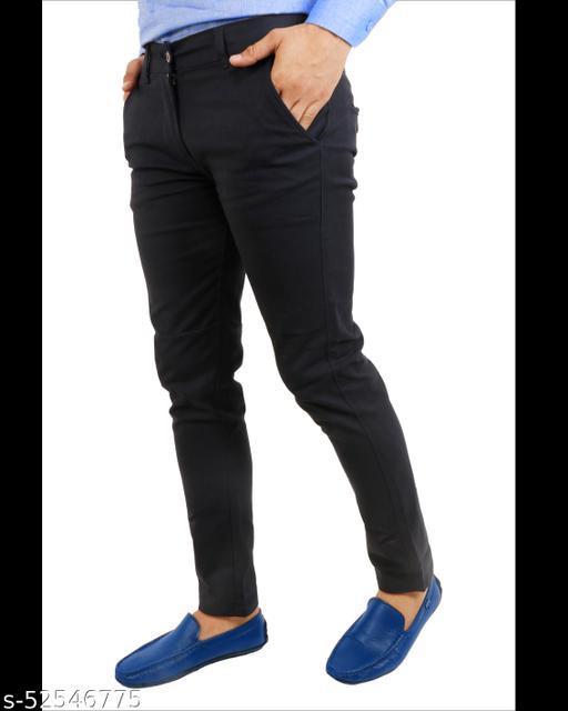 Stylish Unique Men blue Trousers