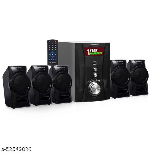 Blueberry's 5.1 42 Watt Multimedia Home Theatre Speaker System Ultra Sound with USB/FM/Bluetooth Connectivity Made in India(Black)