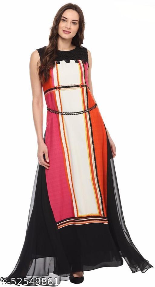 SOIE Women Maxi Multicolor Dress