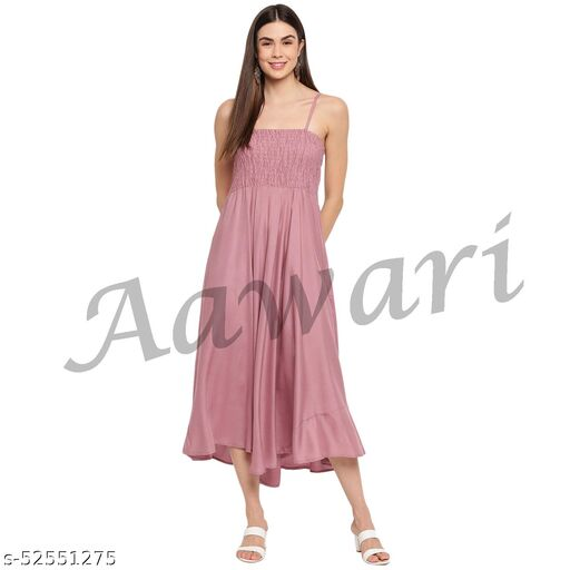 Aawari Rayon Bobbin Gown For Girls and Women Spring Onion