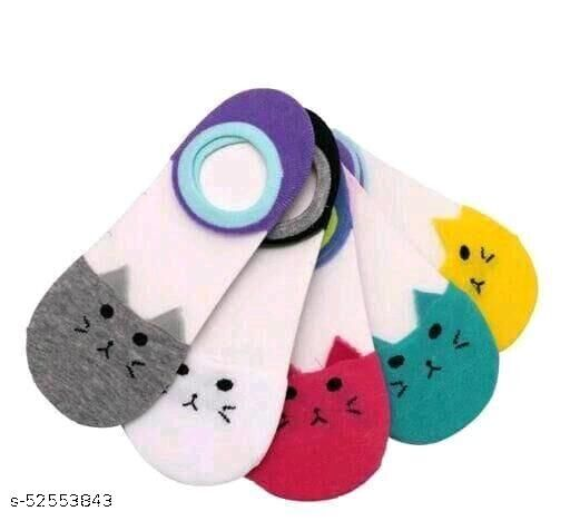 Women's Acrylic & Cotton Socks-5 Pairs