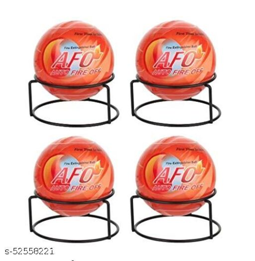 AFO (AUTO FIRE OFF) Plastic Standard Size Orange Fire Extinguisher Ball - Pack of 4 Balls