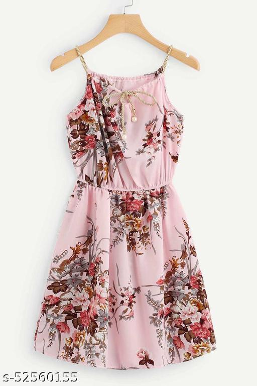 Manshav Women's Fit And Flare Fancy Short One-Piece Western Dress