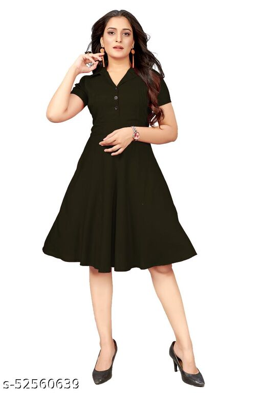 ManshavWomen's Fit And Flare Fancy Western Cotton Dress
