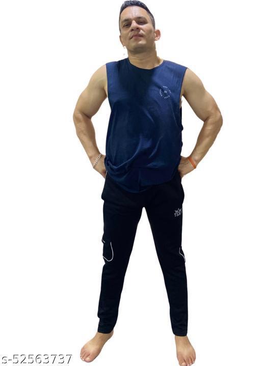 TSAR Men's Regular Fit Track pants (Polyester) (Black)