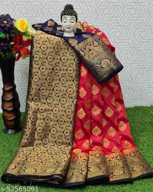 Gauri Banarasi silk saree with zari blouse