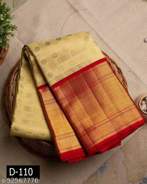 Ethnics studio presents ream Kanchipuram Silk Saree Enchants With A Striking Confluence Of Gold Zari Multiline Checks And Elegant Dainty zari Florets