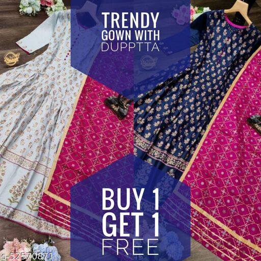 COMBO OF TRENDY GOWN WITH DUPPTTA