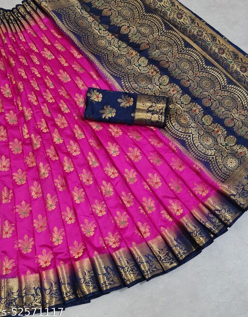 Garima Banarasi silk saree with zari blouse