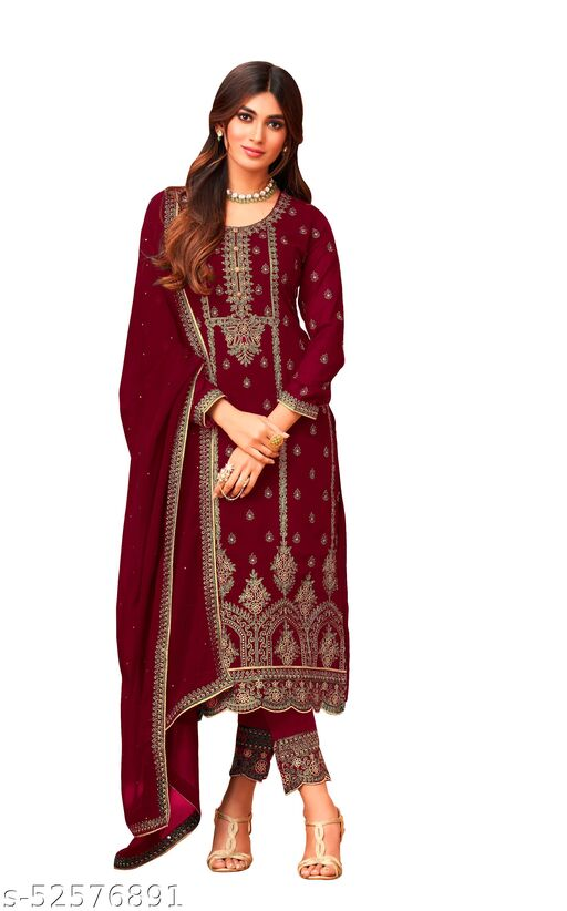 Aakarsha Pretty Semi-Stitched Suits