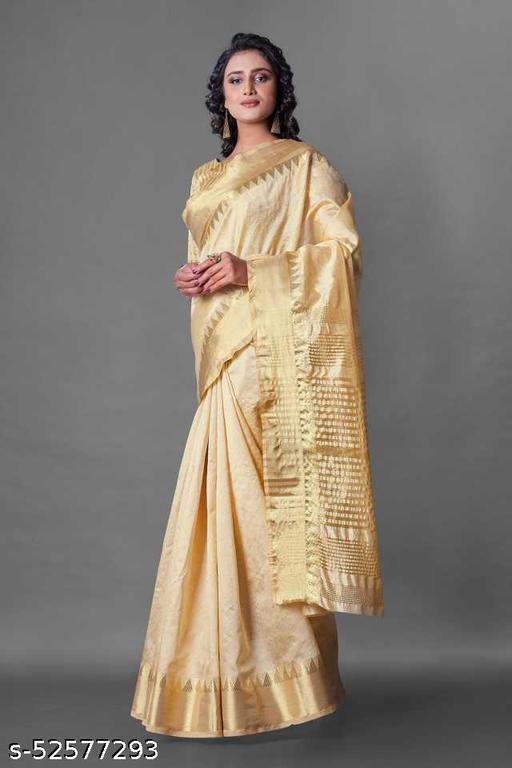 Women's Ethnic Assam Silk Banarasi Saree With Blouse Piece