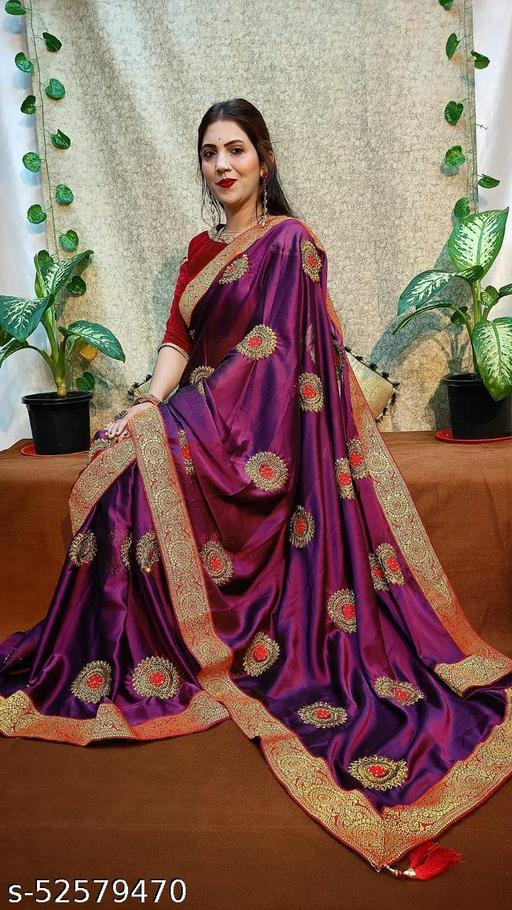 Rangoli Silk Embroidery Work And Diamond