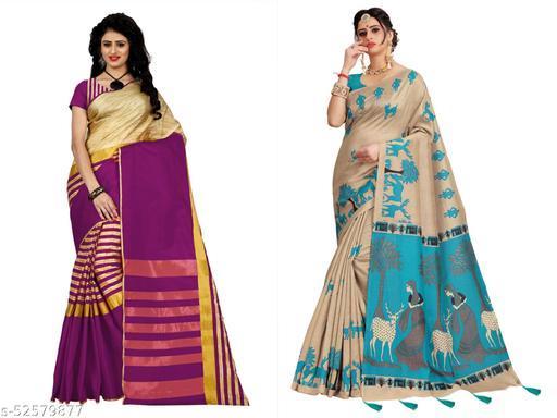 Raji fashion Pack of 2 saree